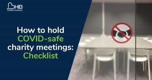 How to hold COVID-safe charity meetings